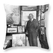 Arthur Conan Doyle Throw Pillow
