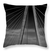 Arthur Ravenel Jr Bridge Throw Pillow