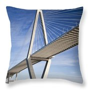 Arthur Ravenel Jr. Bridge In Charleston South Carolina Throw Pillow
