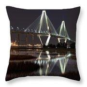 Arthur Ravenel Jr. Bridge Throw Pillow by Ken Barrett