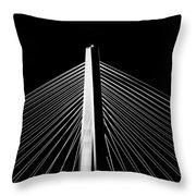 Arthur Ravenel Jr. Bridge Lines Throw Pillow