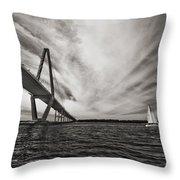 Arthur Ravenel Jr. Bridge Over The Cooper River Throw Pillow