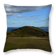 Arthur's Seat And Edinburgh Scotland Throw Pillow