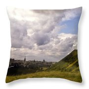 Arthurs Seat Edinburgh Throw Pillow