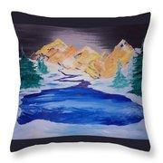 Artic Lake Throw Pillow