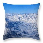 Artic Polar Circle Throw Pillow