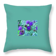 Artichoke Blues Throw Pillow