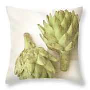 Artichoke Cynara Scolymus Throw Pillow