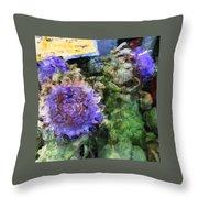 Artichoke Flowers Throw Pillow