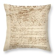 Articles Of Confederation Throw Pillow
