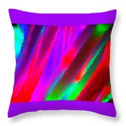 Artificial Rainbow Throw Pillow