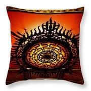 Artificial Sun Throw Pillow