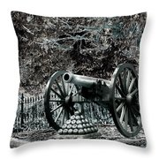 Artillery At Pickettes Charge Throw Pillow