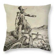 Artillery Caisson Throw Pillow