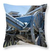 Artillery In Front Of The Armory Throw Pillow