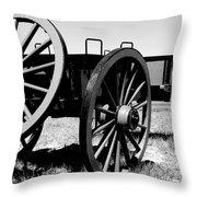 Artillery Wagon Throw Pillow