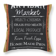 Artisan Market Sign Throw Pillow