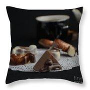 Artisanal Belgian Chocolate Throw Pillow