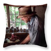 Artist - Potter - The Potter IIi Throw Pillow by Mike Savad