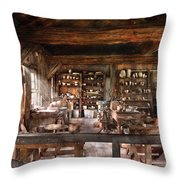 Artist - Potter - The Potters Shop  Throw Pillow by Mike Savad