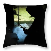 Artist At Work Throw Pillow