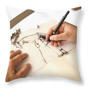 Artist At Work - Michelle Wie Part 1 Throw Pillow
