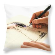 Artist At Work - Michelle Wie Part 3 Throw Pillow