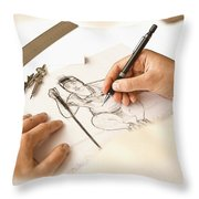 Artist At Work - So Yeon Ryu Part 1 Throw Pillow
