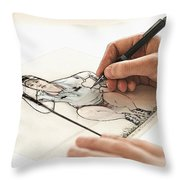Artist At Work - So Yeon Ryu Part 3 Throw Pillow