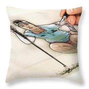 Artist At Work - So Yeon Ryu Part 4 Throw Pillow