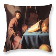 Artist In His Studio 1632 Throw Pillow