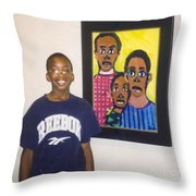 Artist Of Different Drums Throw Pillow
