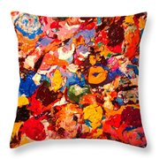 Artist Palette Throw Pillow