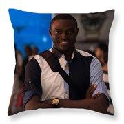 Artist Self Portrait Throw Pillow