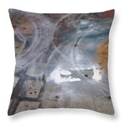 Artist Sidewalk 3 Throw Pillow