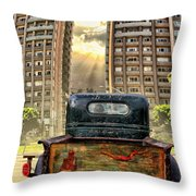 Artist Trucking In The Lbc Throw Pillow