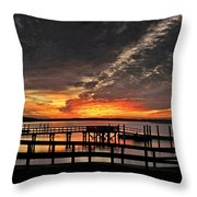 Artistic Black Sunset Throw Pillow