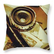 Artistic Double Exposure Of A Vintage Photo Tour Throw Pillow