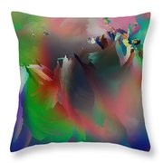 Artistic Frost Throw Pillow
