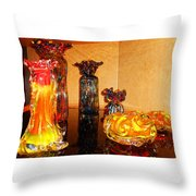Artistic Glass 2 Throw Pillow