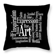 Artistic Inspiration Throw Pillow