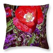 Artistic Kentucky Red Poppy Throw Pillow
