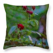 Artistic Last Rose Throw Pillow