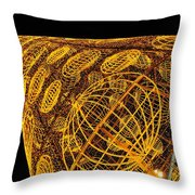 Artistic Led Lights Christmas Decoration At Sol In Madrid, Spain. Throw Pillow