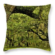 Artistic Live Oaks Throw Pillow