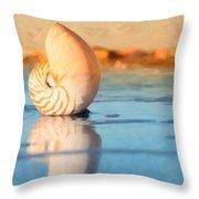 Artistic Nautilus Throw Pillow
