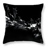Artistic Nude Abstract Closeup Of A Thorny Holly Tree Branch On  Throw Pillow