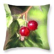 Artistic Panterly Two Wild Goosberries Throw Pillow