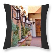 Santa Fe Garden Courtyard Throw Pillow