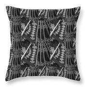 Artistic Sparkle Floral Black And White Graphic Art Very Elegant One Of A Kind Work That Will Show G Throw Pillow